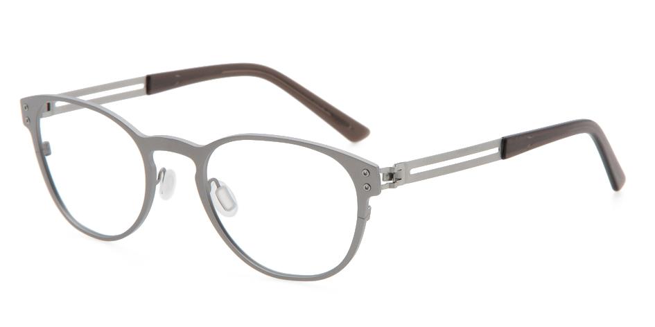 【送料無料】メガネ度付き/度なし WE-NG T136 21LGR 50【薄型レンズ追加料金0円】(メガネケース・メガネ拭き付) メガネ/めがね/眼鏡/度付きメガネ/度入り/伊達メガネ