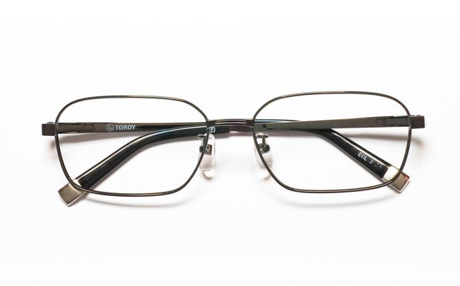 【送料無料】メガネ度付き/度なし TOROY トロイ TR-7080 3GRグレー【薄型レンズ追加料金0円】(メガネケース・メガネ拭き付) メガネ/めがね/眼鏡/度付きメガネ/度入り/伊達メガネ