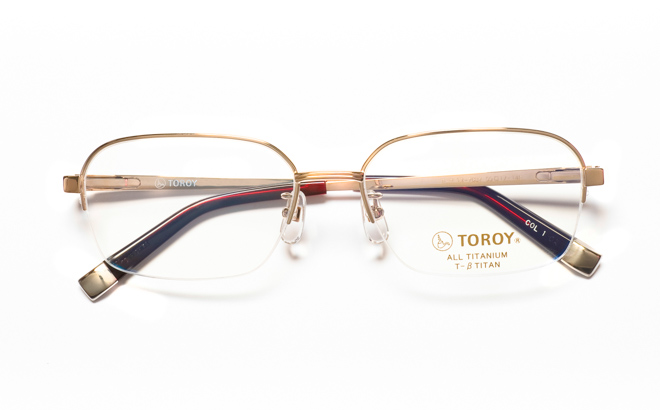 【送料無料】メガネ度付き/度なし TOROY トロイ TR-7082 1GPゴールド【薄型レンズ追加料金0円】(メガネケース・メガネ拭き付) メガネ/めがね/眼鏡/度付きメガネ/度入り/伊達メガネ