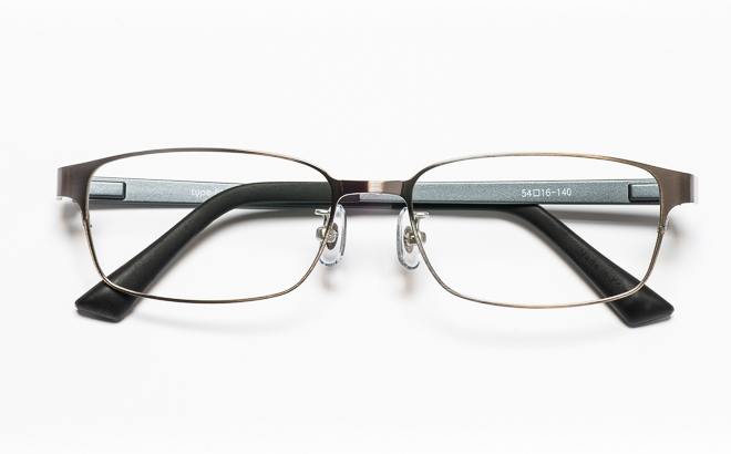 【送料無料】メガネ度付き/度なし type-fit タイプフィット TF-1001 2GRグレー【薄型レンズ追加料金0円】(メガネケース・メガネ拭き付) メガネ/めがね/眼鏡/度付きメガネ/度入り/伊達メガネ
