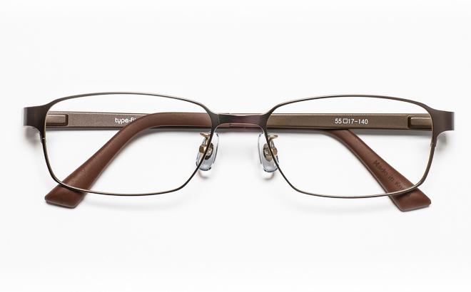 【送料無料】メガネ度付き/度なし type-fit タイプフィット TF-1002 1BRブラウン【薄型レンズ追加料金0円】(メガネケース・メガネ拭き付) メガネ/めがね/眼鏡/度付きメガネ/度入り/伊達メガネ