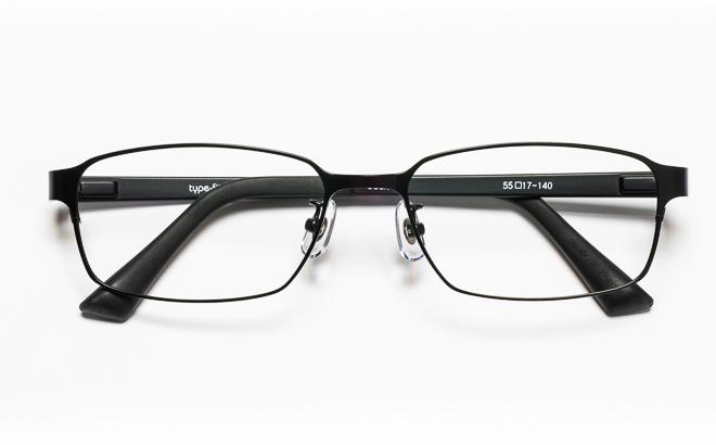 【送料無料】メガネ度付き/度なし type-fit タイプフィット TF-1002 3BKブラック【薄型レンズ追加料金0円】(メガネケース・メガネ拭き付) メガネ/めがね/眼鏡/度付きメガネ/度入り/伊達メガネ