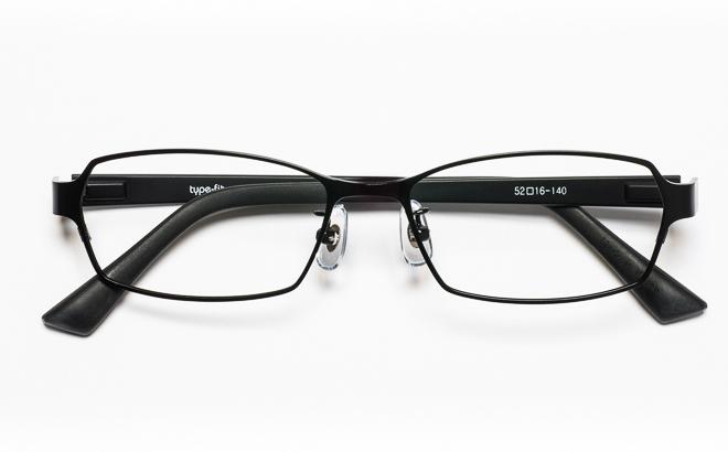 【送料無料】メガネ度付き/度なし type-fit タイプフィット TF-1003 3BKブラック【薄型レンズ追加料金0円】(メガネケース・メガネ拭き付) メガネ/めがね/眼鏡/度付きメガネ/度入り/伊達メガネ