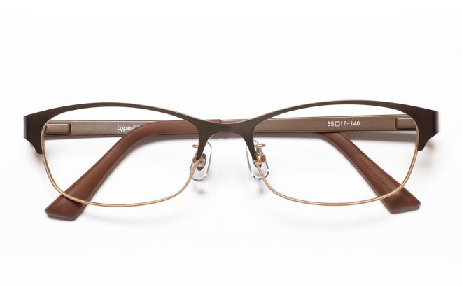 【送料無料】メガネ度付き/度なし type-fit タイプフィット TF-1007 1BRブラウン【薄型レンズ追加料金0円】(メガネケース・メガネ拭き付) メガネ/めがね/眼鏡/度付きメガネ/度入り/伊達メガネ/ナイロール