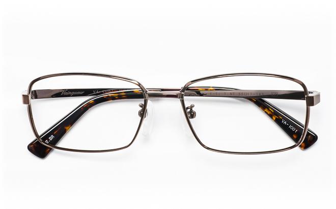【送料無料】メガネ度付き/度なし Vainqueurヴァンクール VA-1001 2(BR)ブラウン【薄型レンズ追加料金0円】(メガネケース・メガネ拭き付) メガネ/めがね/眼鏡/度付きメガネ/度入り/伊達メガネ