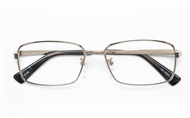 【送料無料】メガネ度付き/度なし Vainqueurヴァンクール VA-1001 3(GR)シルバー【薄型レンズ追加料金0円】(メガネケース・メガネ拭き付) メガネ/めがね/眼鏡/度付きメガネ/度入り/伊達メガネ
