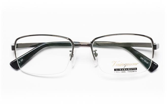 【送料無料】メガネ度付き/度なし Vainqueurヴァンクール VA-1002 3(GR)グレー【薄型レンズ追加料金0円】(メガネケース・メガネ拭き付) メガネ/めがね/眼鏡/度付きメガネ/度入り/伊達メガネ