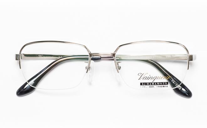 【送料無料】メガネ度付き/度なし Vainqueurヴァンクール VA-1004 1(GR)シルバー【薄型レンズ追加料金0円】(メガネケース・メガネ拭き付) メガネ/めがね/眼鏡/度付きメガネ/度入り/伊達メガネ