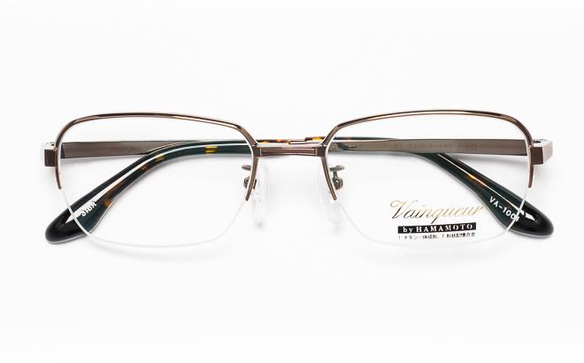 【送料無料】メガネ度付き/度なし Vainqueurヴァンクール VA-1004 3(BR)ブラウン【薄型レンズ追加料金0円】(メガネケース・メガネ拭き付) メガネ/めがね/眼鏡/度付きメガネ/度入り/伊達メガネ