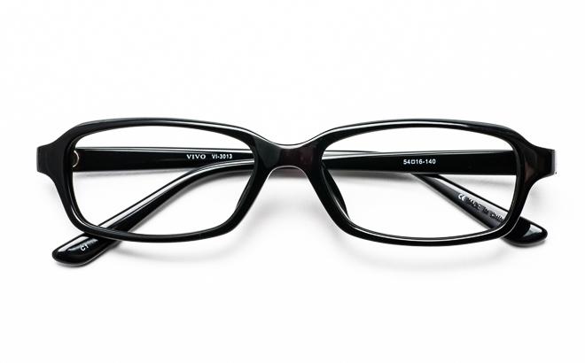 【送料無料】メガネ度付き/度なし VIVOビーボ VI-3013 1BKブラック【薄型レンズ追加料金0円】(メガネケース・メガネ拭き付) メガネ/めがね/眼鏡/度付きメガネ/度入り/伊達メガネ/セルフレーム/セル