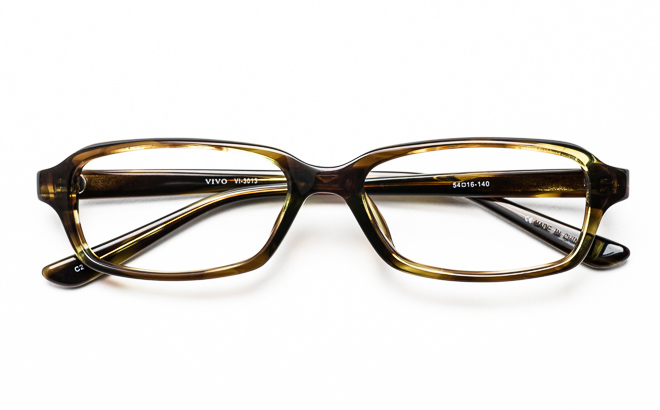【送料無料】メガネ度付き/度なし VIVOビーボ VI-3013 2KHカーキ【薄型レンズ追加料金0円】(メガネケース・メガネ拭き付) メガネ/めがね/眼鏡/度付きメガネ/度入り/伊達メガネ/セルフレーム/セル