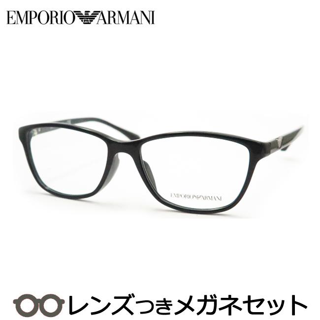 【送料無料】HOYA製レンズつき 【EMPORIO ARMANI】アルマーニメガネセット EA 3099 5017 ブラック 黒 54サイズ 度付き 度なし ダテメガネ 伊達眼鏡 薄型 UVカット 撥水コート