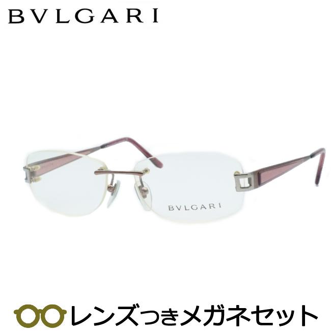 【送料無料】HOYA製レンズつき 【BVLGARI】ブルガリメガネセット 230-176 度付き 度なし ダテメガネ 伊達眼鏡 薄型 UVカット 撥水コート
