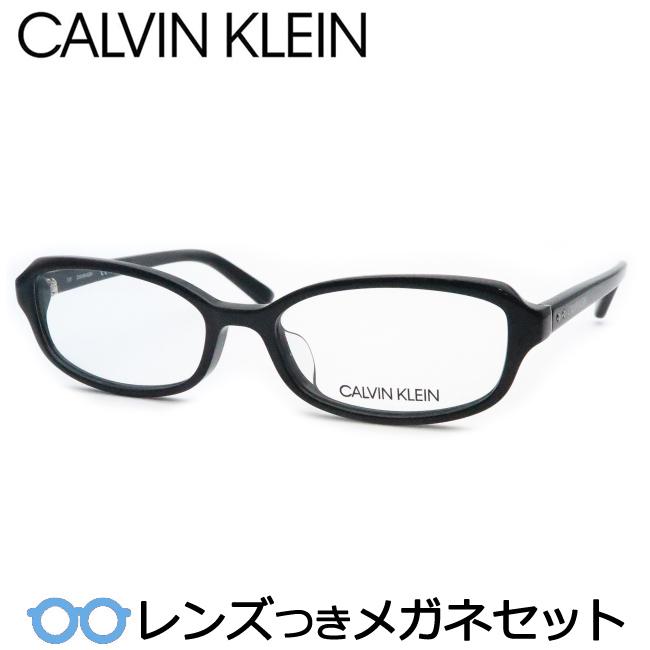 【送料無料】HOYA製レンズつき メンズカジュアル【Calvin Klein】カルバンクラインメガネセット 18527A 001 ブラック・セル 度付き 度なし ダテメガネ 伊達眼鏡 薄型 UVカット 撥水コート