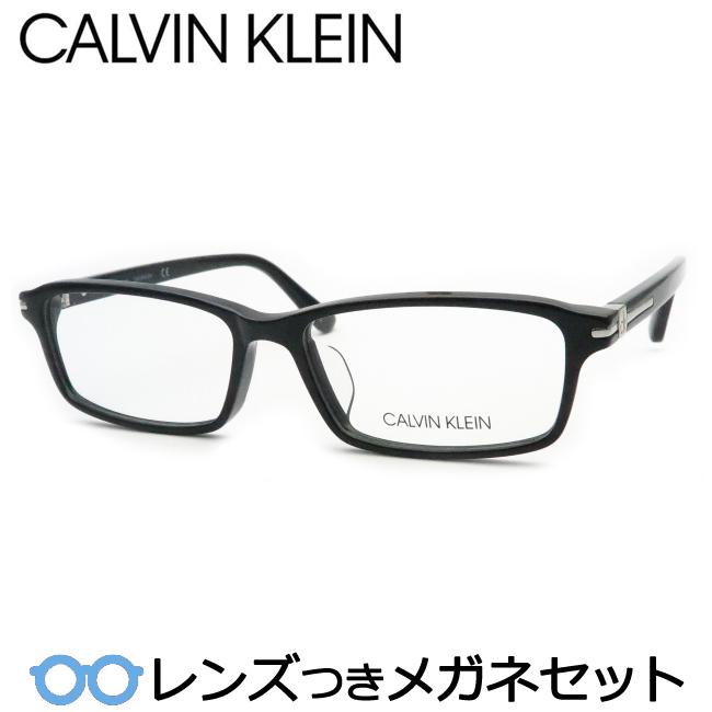 【送料無料】HOYA製レンズつき メンズカジュアル【Calvin Klein】カルバンクラインメガネセット CK5953 001 ブラック 度付き 度なし ダテメガネ 伊達眼鏡 薄型 UVカット 撥水コート