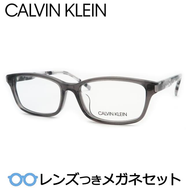 【送料無料】HOYA製レンズつき メンズカジュアル【Calvin Klein】カルバンクラインメガネセット 5999-040クリアグレー・セル 度付き 度なし ダテメガネ 伊達眼鏡 薄型 UVカット 撥水コート