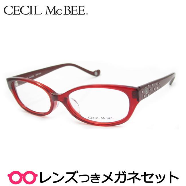 【送料無料】HOYA製レンズつき かわいく輝きたい♪【CECIL McBEE】セシルマクビーメガネセット 7019-4セル 度付き 度なし ダテメガネ 伊達眼鏡 薄型 UVカット 撥水コート