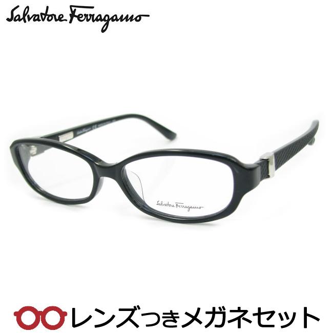 【送料無料】HOYA製レンズつき・【Salvatore Ferragamo】フェラガモメガネセット2714-001・度付き・度なし・ダテメガネ・伊達眼鏡・【薄型】【UVカット】【撥水コート】