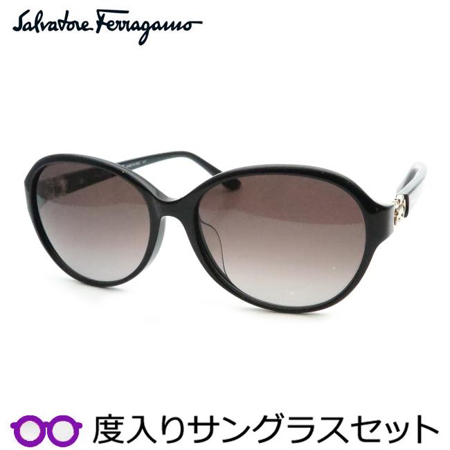 【送料無料】【Salvatore Ferragamo】フェラガモ度入りサングラスセット(度付きサングラス)SF804SA 001 度付き 度なし ブラック