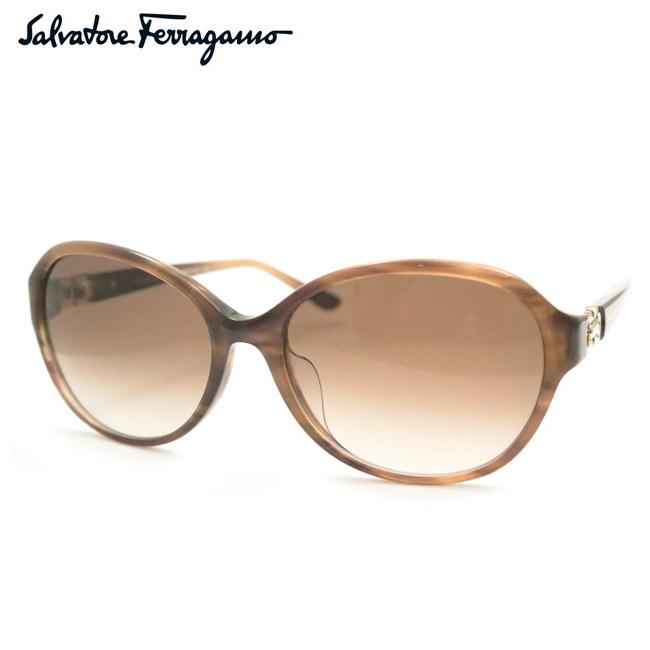 【Salvatore Ferragamo】フェラガモサングラスSF804SA 216 ブラウン【あす楽】