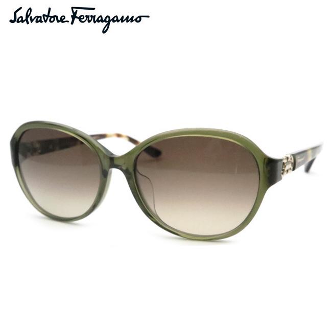 【Salvatore Ferragamo】フェラガモサングラスSF804SA 323 スケルトンオリーブグリーン【あす楽】