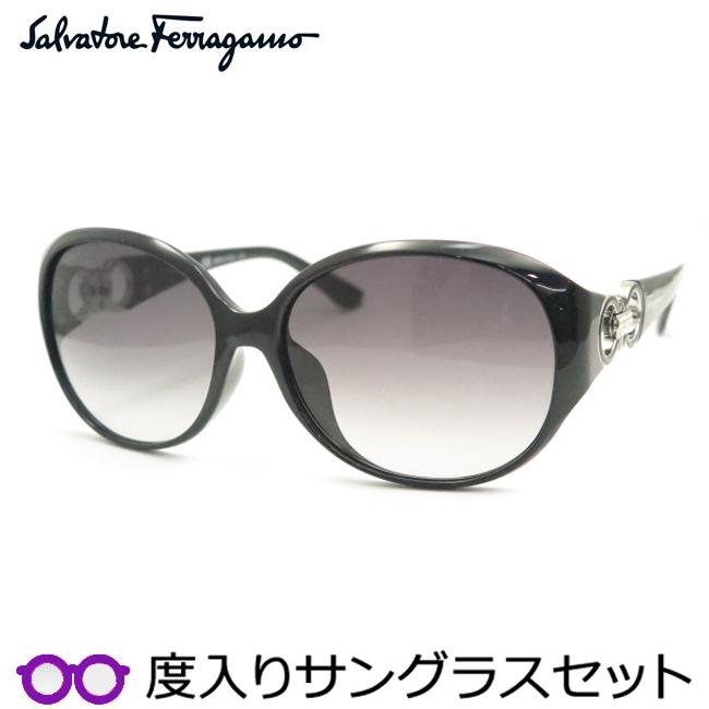 【送料無料】【Salvatore Ferragamo】フェラガモ度入りサングラスセット(度付きサングラス)SF896SRA-001・度付き・度なし・ブラック
