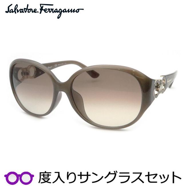 【送料無料】【Salvatore Ferragamo】フェラガモ度入りサングラスセット(度付きサングラス)SF896SRA 272 度付き 度なし タートルダヴ