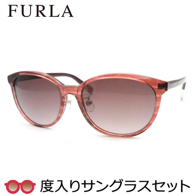 【送料無料】【FURLA】フルラ度入りサングラスセット(度付きサングラス)SFU287J 09GI・度付き・度なし・ボルドー 54サイズ