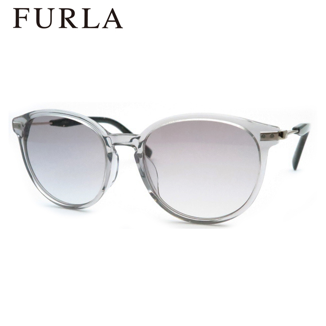 cec1b4adf156 商品名フルラサングラス【FURLA sunglasses】サイズ50□18 135 たて48×よこ128  女性Mサイズ相当フレームフロント:スケルトンライトグレイテンプル:デミブラック ...