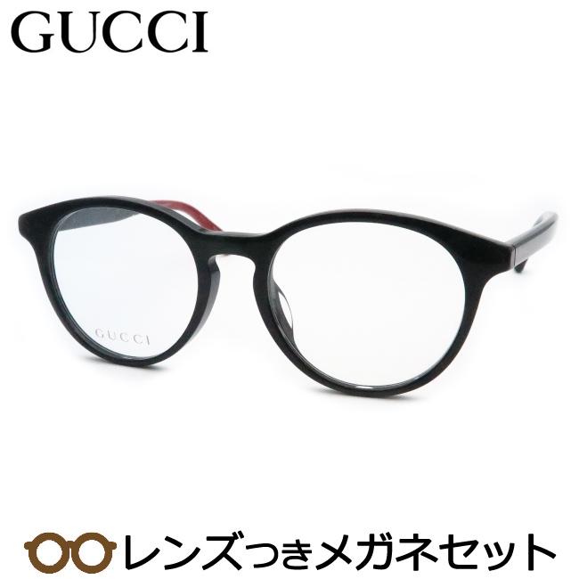 【送料無料】HOYA製レンズつき 【GUCCI】グッチメガネセット GG0406OA 001 ブラック ボストン 度付き 度なし ダテメガネ 伊達眼鏡 薄型 UVカット 撥水コート