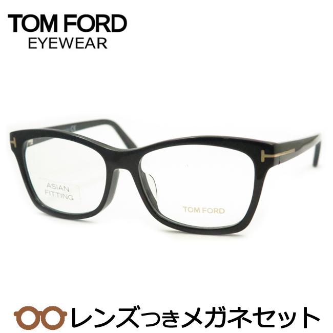【送料無料】HOYA製レンズつき 【TOMFORD】トムフォードメガネセット FT5424-F-001-アジアンフィッティング 度付き 度なし ダテメガネ 伊達眼鏡 薄型 UVカット 撥水コート