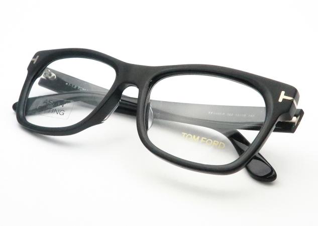 HOYA製レンズつき・【TOMFORD】トムフォードメガネセットFT5468-F 002 アジアンフィッティング・度付き・度なし・ダテメガネ・伊達眼鏡・【薄型】【UVカット】【撥水コート】