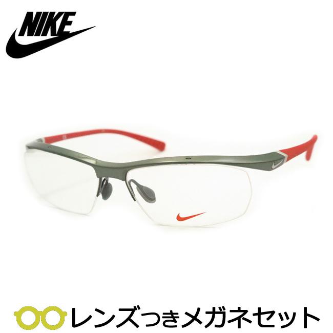 【送料無料】HOYA製レンズつき 【NIKE】ナイキメガネセット 7070/3-024 スポーツ 度付き 度なし ダテメガネ 伊達眼鏡 薄型 UVカット 撥水コート