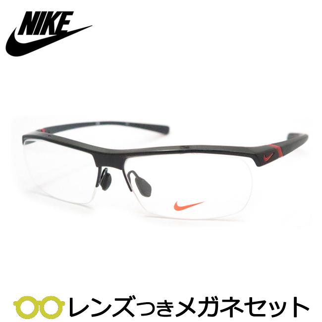 【送料無料】HOYA製レンズつき 【NIKE】ナイキメガネセット 7071/2-002 スポーツ 度付き 度なし ダテメガネ 伊達眼鏡 薄型 UVカット 撥水コート