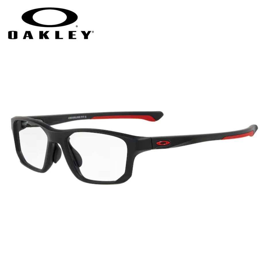【送料無料】HOYA製レンズつき 【OAKLEY】オークリーメガネセット OX8142 0456 【56サイズ】・クロスリンクフィット CROSSLINK FIT(アジアンフィット) スポーツ 度付き 度なし ダテメガネ 伊達眼鏡 薄型 UVカット 撥水コート