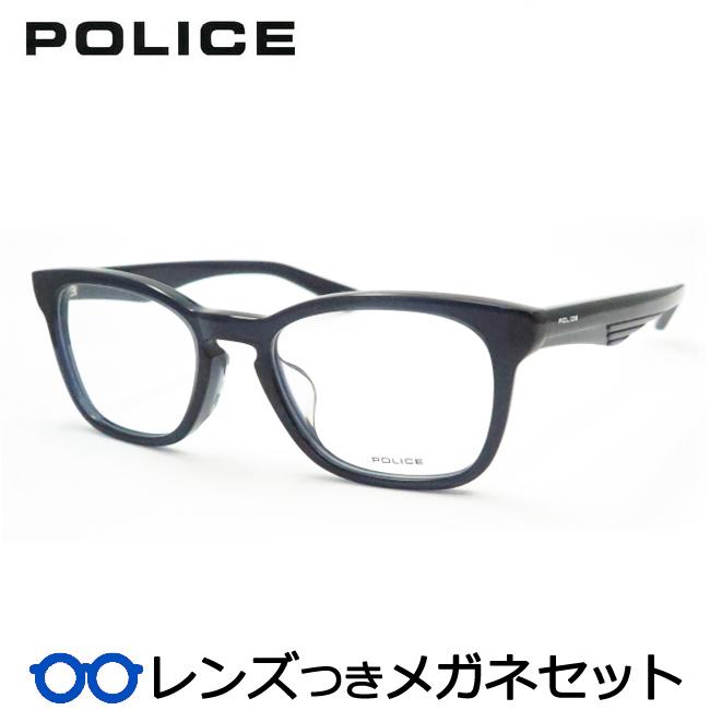 【送料無料】HOYA製レンズつき クールに決めよう♪ 【POLICE】ポリスメガネセット 487-02GP 度付き 度なし ダテメガネ 伊達眼鏡 薄型 UVカット 撥水コート