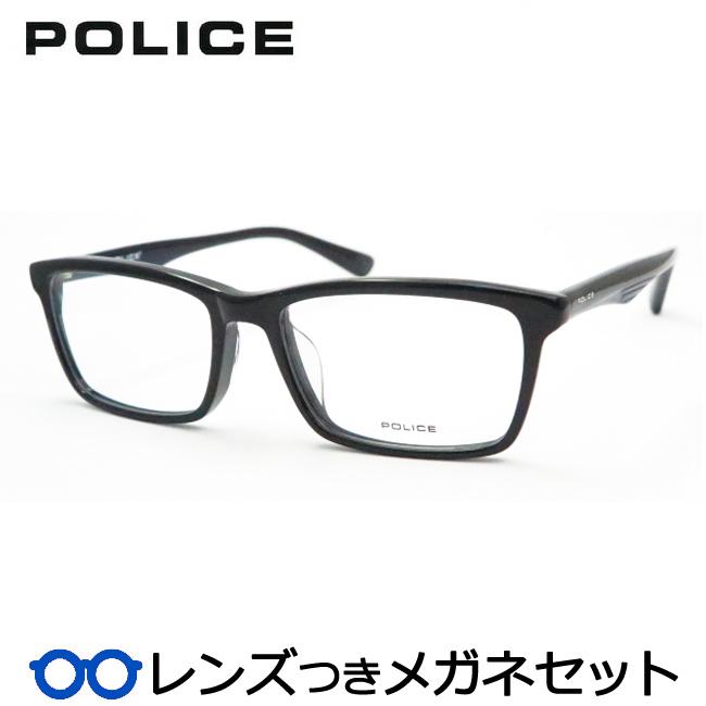 【送料無料】HOYA製レンズつき クールに決めよう♪ 【POLICE】ポリスメガネセット 488-01KP 度付き 度なし ダテメガネ 伊達眼鏡 薄型 UVカット 撥水コート