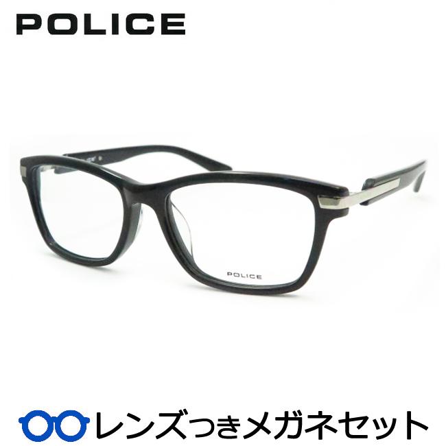 【送料無料】HOYA製レンズつき クールに決めよう♪ 【POLICE】ポリスメガネセット 489-01KP 度付き 度なし ダテメガネ 伊達眼鏡 薄型 UVカット 撥水コート