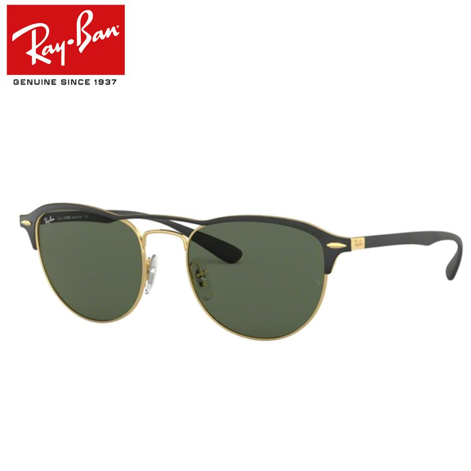 【送料無料】正規商品販売店【Ray-Ban】レイバン度入りサングラスセット(度付きサングラス)RB3596 907671 【54サイズ】マットブラック ゴールド