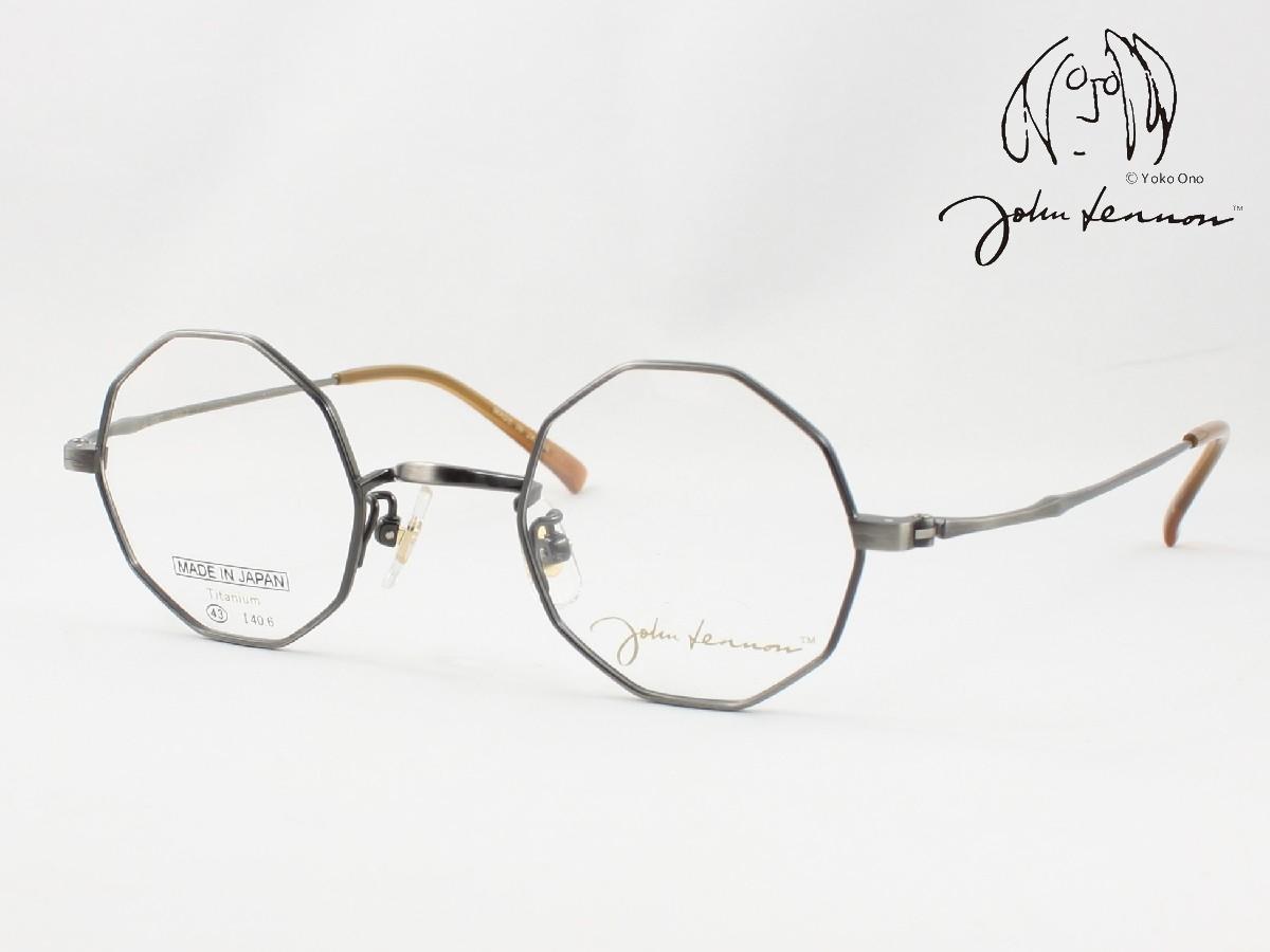 John 新作からSALEアイテム等お得な商品 満載 Lennon 日本正規代理店品 ジョン レノン 日本製メガネフレーム JL-1087-3 ラウンド 丸メガネ 十角形タイプ デカゴン