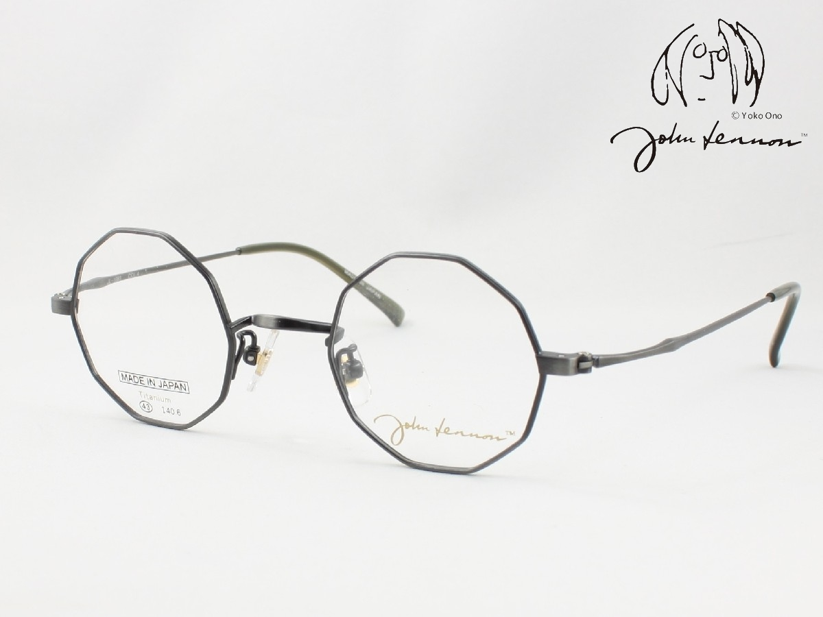 John Lennon ジョン 贈答 レノン 日本製メガネフレーム ラウンド デカゴン 日本未発売 JL-1087-4 丸メガネ 十角形タイプ