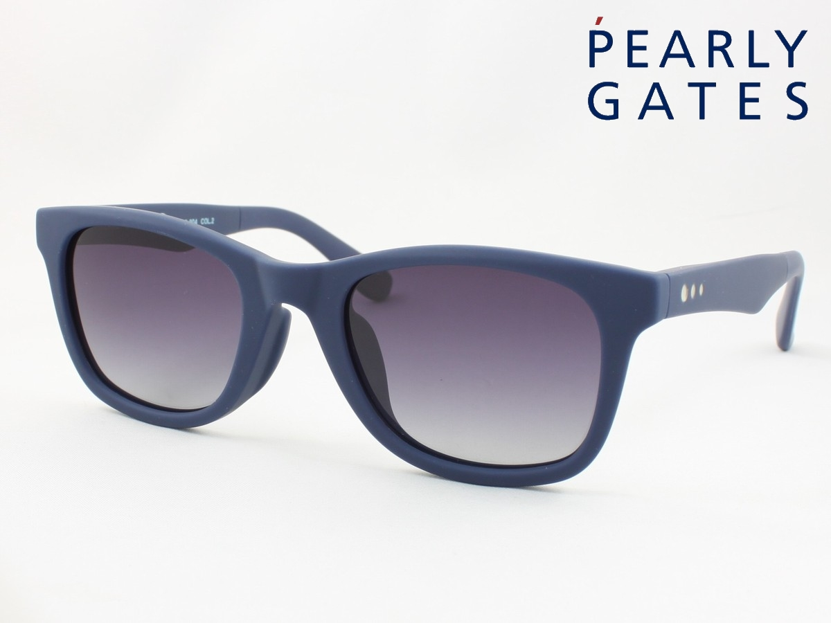 PEARLY GATES パーリーゲイツ 偏光サングラス PG-904-2 ウエリントン 公式 クラシカル メンズ クラシック ウェイファーラータイプ 新品未使用正規品 レディース
