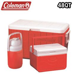 コールマン クーラーボックス 48Qt コンボ (Coleman COOLER 3-PIECE COMBO) レッド (Red) (3000000024)