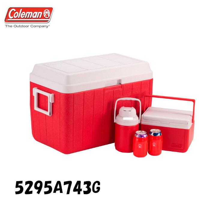 コールマン クーラーボックス 54Qt コンボ (Coleman COOLER 5-PIECE COMBO) レッド (Red) (5295A743G)