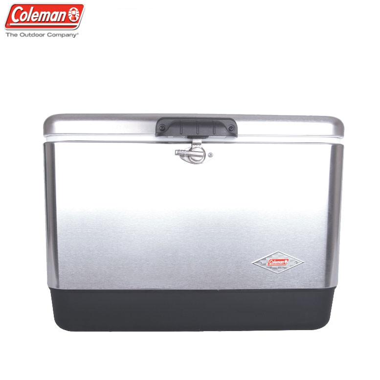 コールマン スチールベルト クーラー 54Qt (Coleman Steel Belted Cooler) シルバー (Silver) (6155B707)