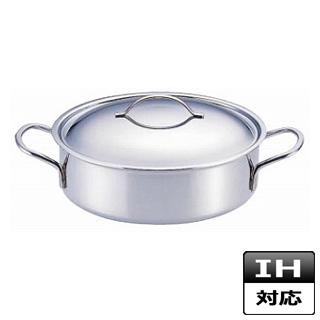 外輪鍋 デバイヤー 18-10 ステンレス プライオリティ 外輪鍋[蓋付] 3693-24 IH対応 IH鍋