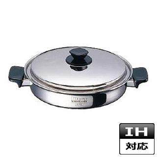 『 両手鍋 IH IH対応 』両手鍋 ステンレス ビタクラフトウルトラ 浅型 No.9522 25.5cm IH対応