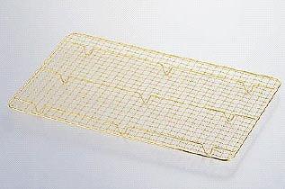 『 ディスプレーバット 調理バット 』 18-8ステンレス製 金仕上げ ディスプレイバット用アミ No.2用