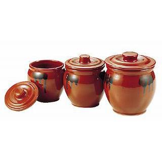 【まとめ買い10個セット品】 陶器 蓋付ミニかめ(ソース入れ) 0.5号【 焼き物器 うなぎたれかけ 】