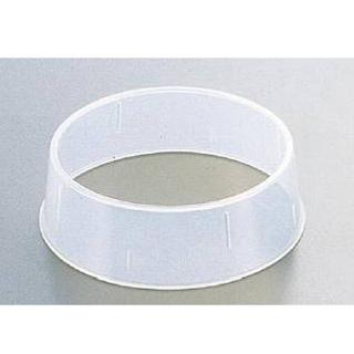 【まとめ買い10個セット品】抗菌丸皿枠[ポリプロピレン] W-4 25cm用 【 ディッシュスタック 】